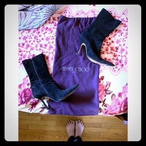 Jimmy Choo Suede Ankle Boots with dustbag